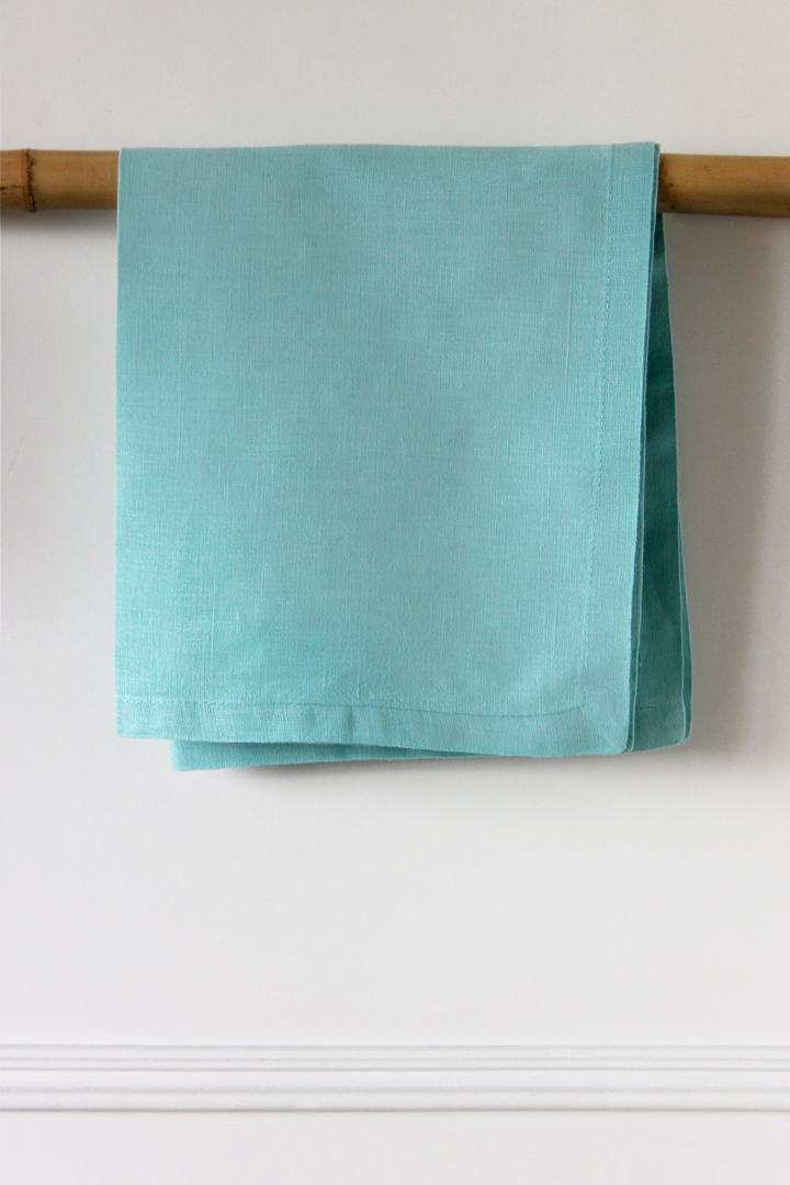 Servilleta de lino color azul turquesa en alquiler desde 1 día, Madrid, Comunidad de Madrid, otras provincias