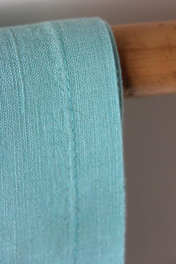 servilleta azul turquesa de lino ideal para combinar con mantelerias lisas o estampadas