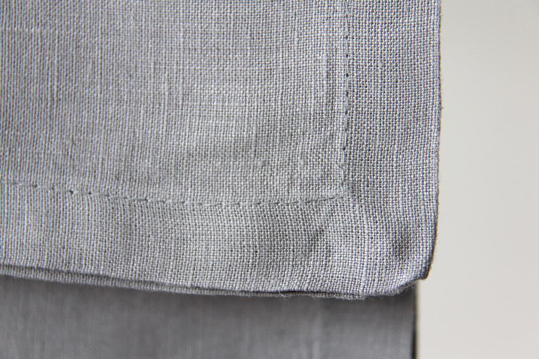 servilleta gris perla de lino ideal para combinar con mantelerias lisas o estampadas