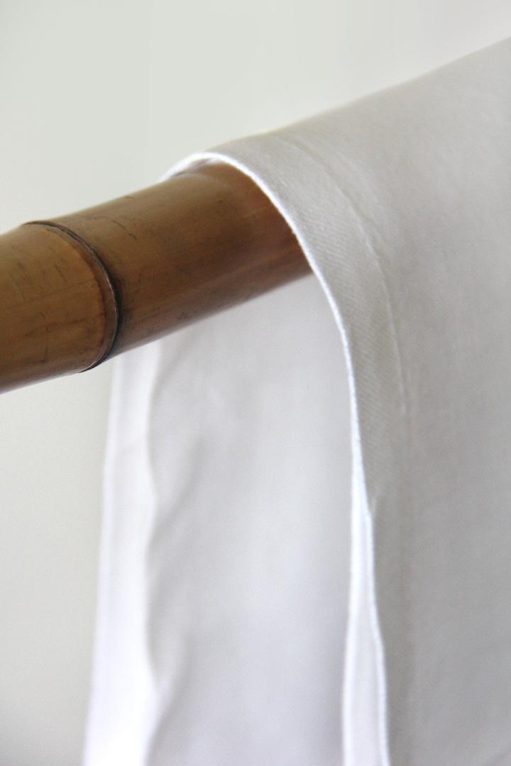 servilleta blanca de lino ideal para combinar con mantelerias lisas o estampadas