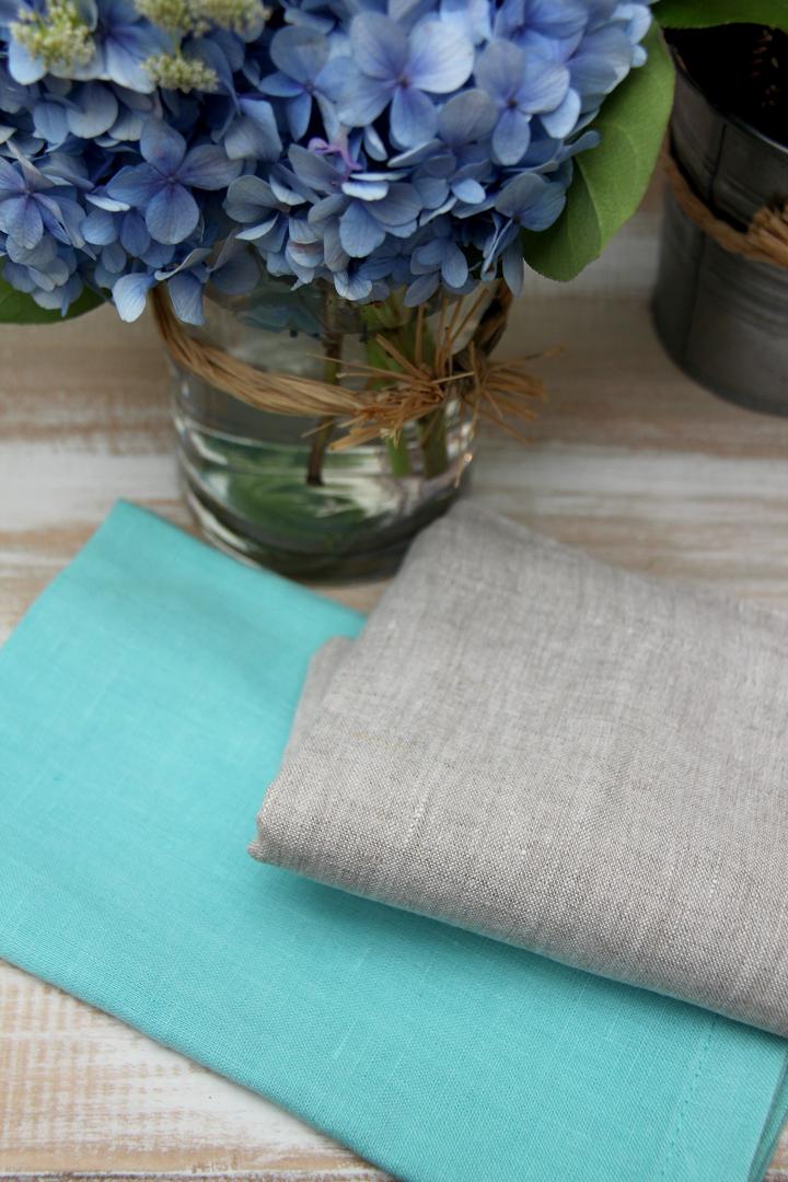 alquiler servilleta lino azul turquesa para catering, particulares, floristas, decoradores, wedding planner, empresas, profesionales